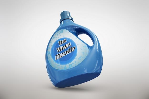Blue detergent packaging mock up Free Psd