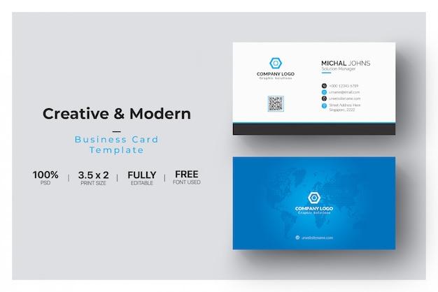 Blue elegant corporate card Free Psd