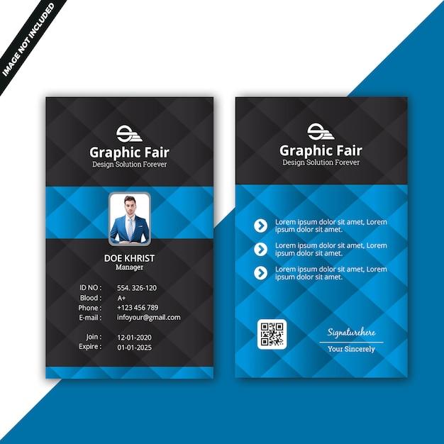 Blue id card Premium Psd