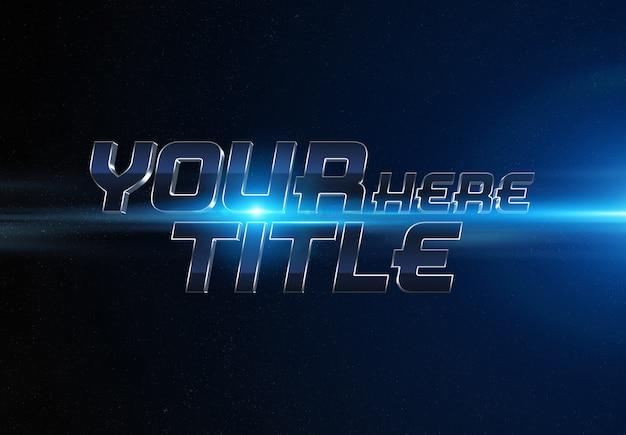 Blue movie trailer text effect Premium Psd