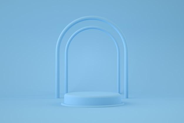 Голубой подиум с арками Premium Psd