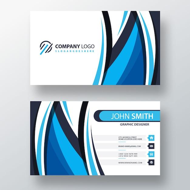 Blue shape psd business template Free Psd