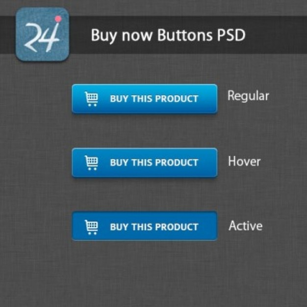Blue shopping buttons PSD PSD file | Free Download