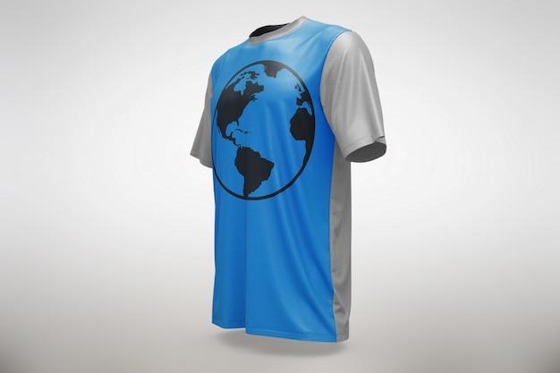 Blue t-shirt mock up Free Psd