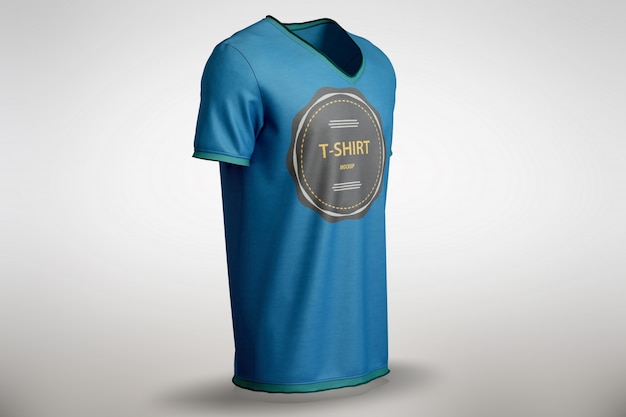 Blue t-shirt mock up Free Psd
