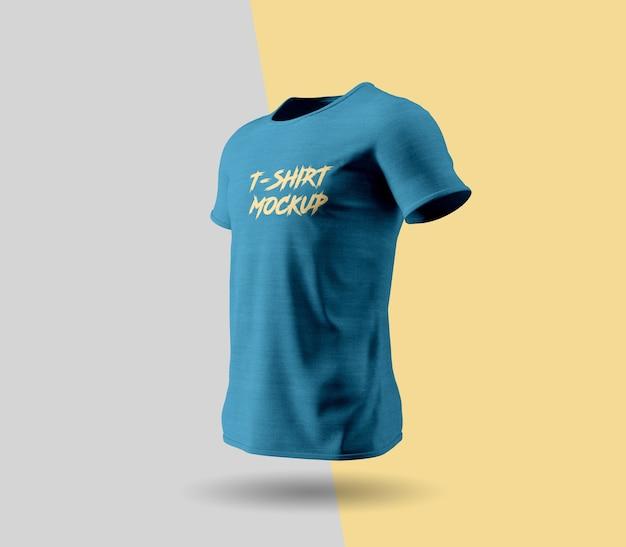 Blue t-shirt mockup design Premium Psd