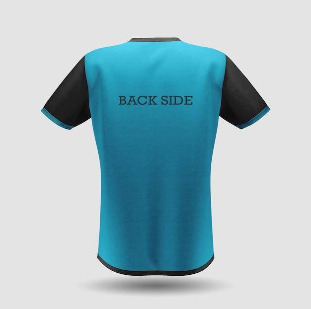 파란색 티셔츠 모형 디자인 프리미엄 PSD 파일