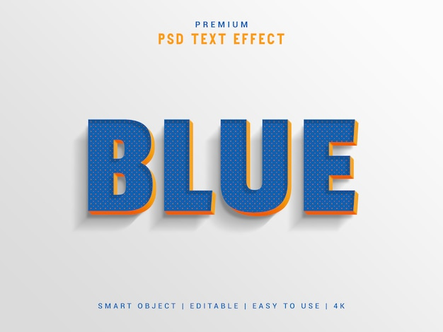 Blue text effect maker Premium Psd