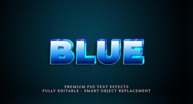 青いテキストスタイルの効果のpsd、プレミアムpsdテキスト効果 Premium Psd