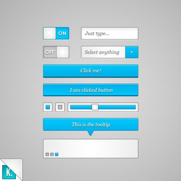 Blue UI kit PSD material PSD file | Free Download