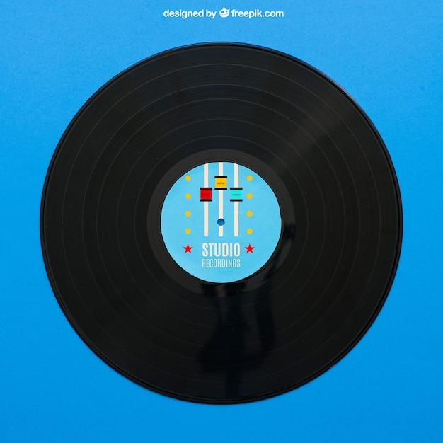 Blue vinyl mockup Free Psd
