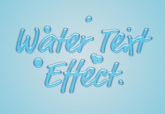 Blue water text effect Premium Psd