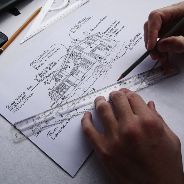 Blueprint realistic presentation psd file free download blueprint realistic presentation free psd malvernweather Choice Image