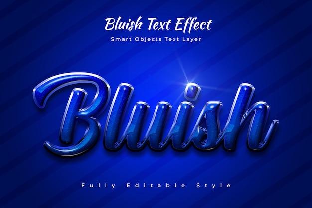 Bluish text effect Premium Psd
