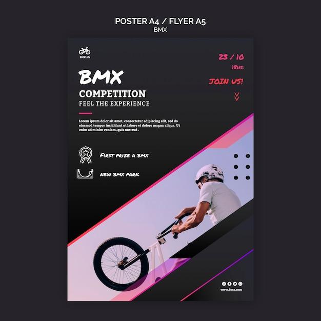 Bmx 경쟁 전단지 서식 파일 무료 PSD 파일