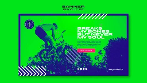 Bmx culture concept banner template Free Psd