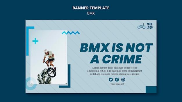 Bmx shop ad banner template Free Psd