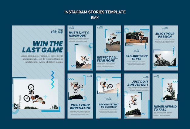 Bmx shop instagram stories template Free Psd
