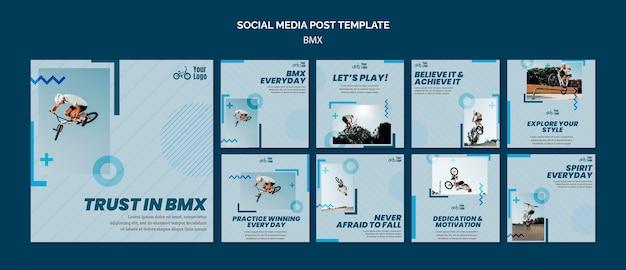 Bmx shop social media post template Free Psd