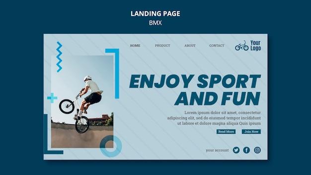 Bmx shop template landing page Free Psd