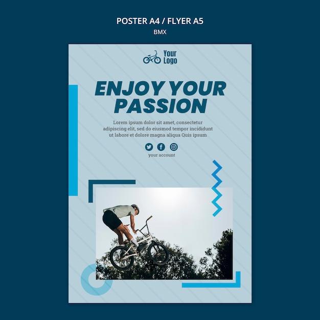 Bmx shop template poster Free Psd