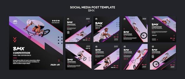 Bmx social media post template Free Psd