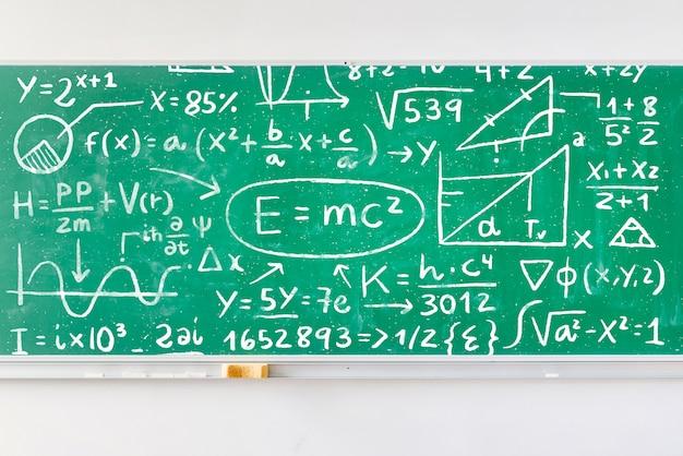 Board full of math formulas mock-up Free Psd