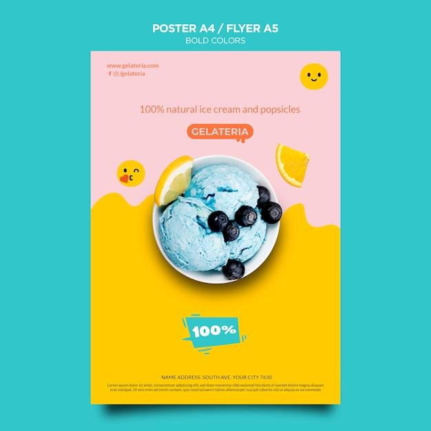 대담한 색상 개념 포스터 템플릿 무료 PSD 파일
