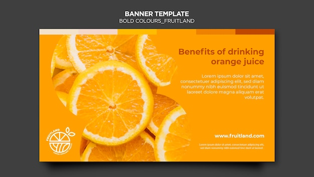 Bold colours fruitland banner Free Psd