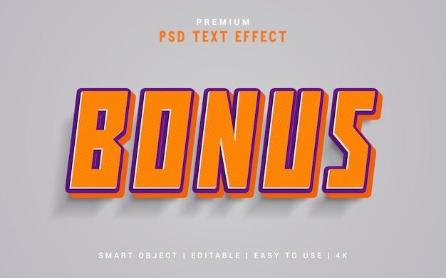 Бонусный генератор текстовых эффектов Premium Psd