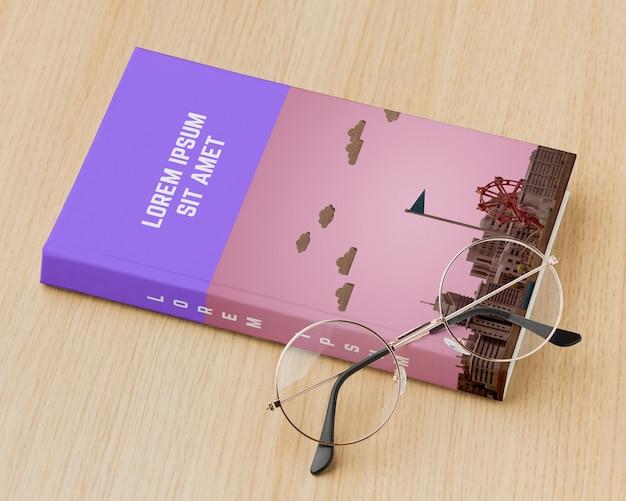 안경 책 표지 구색 무료 PSD 파일
