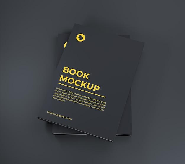 책 표지 모형 프리미엄 PSD 파일