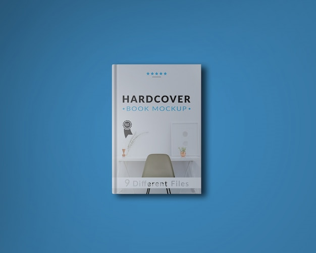 Book Cover Freepik ~ Book cover on blue background mock up psd file free download