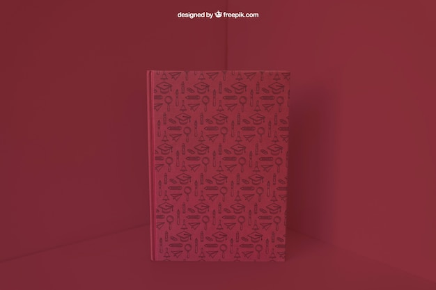 Book in corner with red color effect Free Psd & Book in corner with red color effect PSD file | Free Download