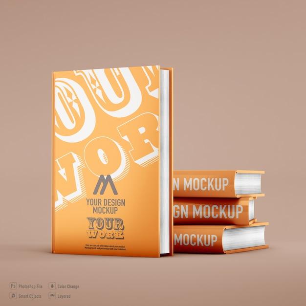Книжный макет, изолированные на мягком цветном фоне Premium Psd