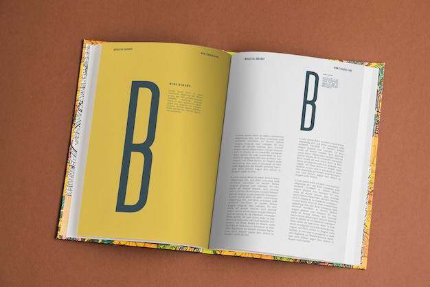 Book page mockup Free Psd