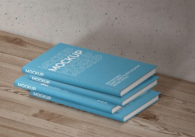 도서 컬렉션 모형 무료 PSD 파일