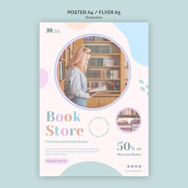 Modello di volantino pubblicitario per libreria Psd Gratuite