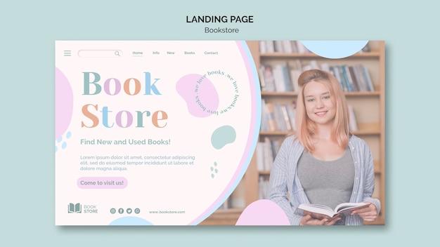 Pagina di destinazione del modello di annuncio della libreria Psd Gratuite
