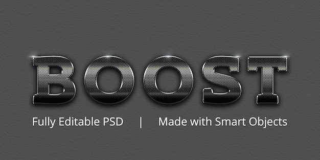 Boost text style effect Premium Psd
