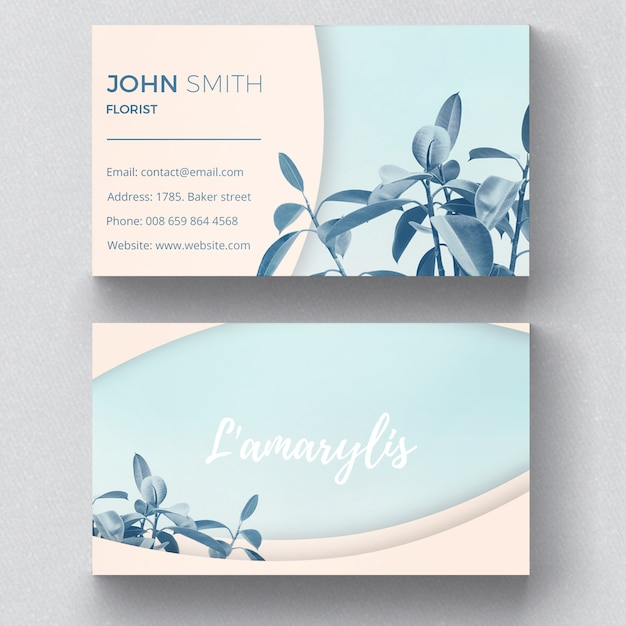 Botanic business card template psd file free download botanic business card template free psd reheart
