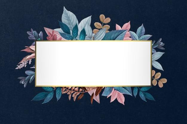 Botanical golden frame Free Psd