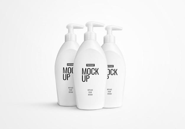 Бутылка жидкостного насоса макет Premium Psd