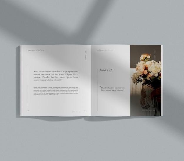 Букет цветов, редакционный макет журнала Бесплатные Psd