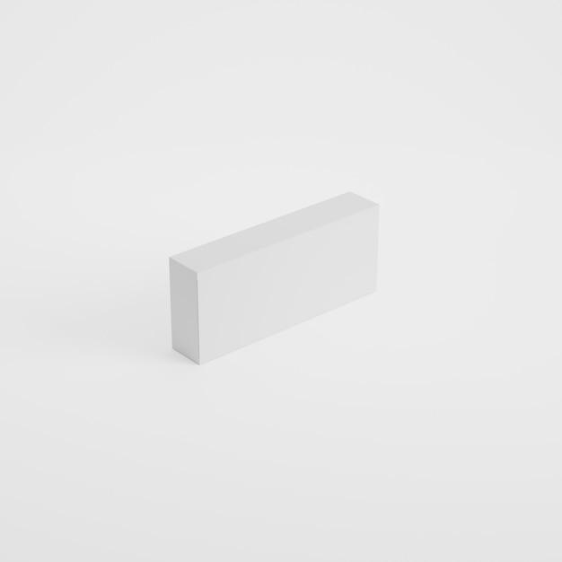 Макет упаковки коробки в 3d-рендеринге Premium Psd