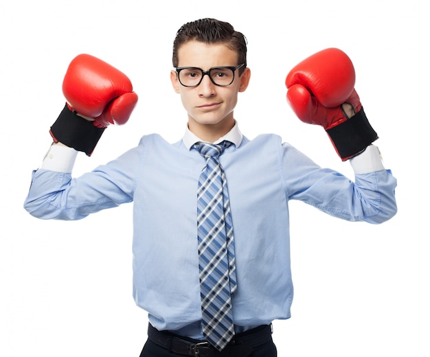 Boy with boxing gloves Free Psd