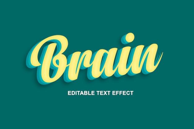 Brain - cool  text effects psd Premium Psd