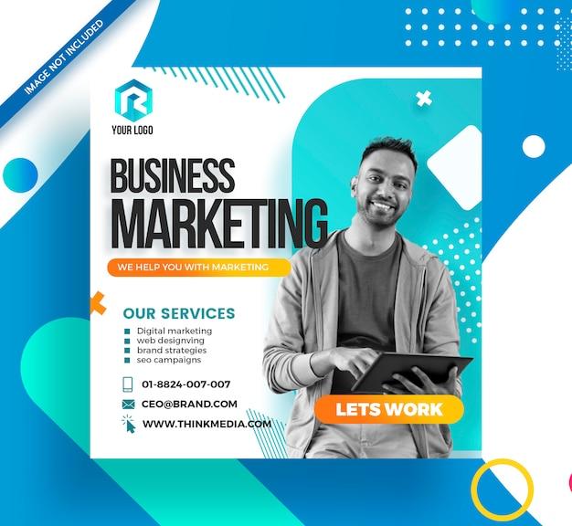 Branding agency corporate social media post banner Premium Psd