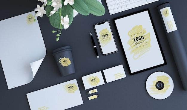 Branding elements mock up Premium Psd