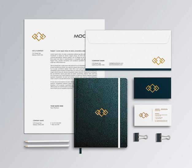 Branding stationery mockup template Premium Psd